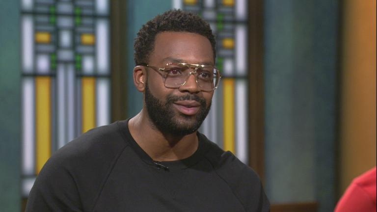 "Actor LaRoyce Hawkins of ""South Side"" appears on ""Chicago Tonight"" on Sept. 12, 2019."