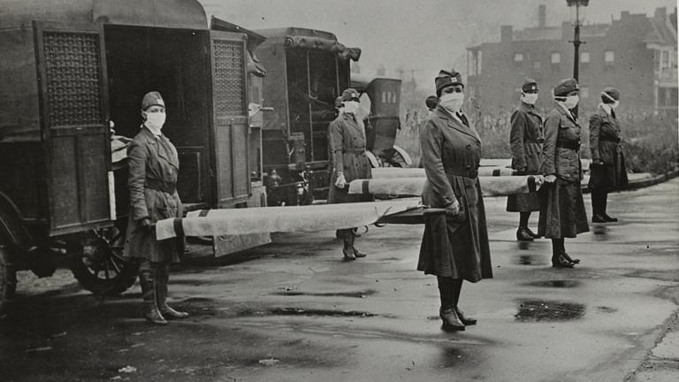 The Spanish flu pandemic (Library of Congress)