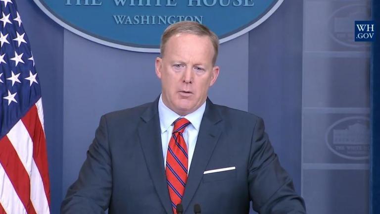 Sean Spicer served as White House press secretary under President Donald Trump. (whitehouse.gov)