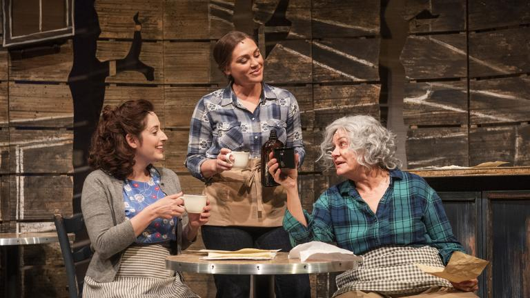 "From left: Dara Cameron, Jacqulyne Jones and Catherine Smitko in ""The Spitfire Grill."" (Photo by Michael Brosilow)"