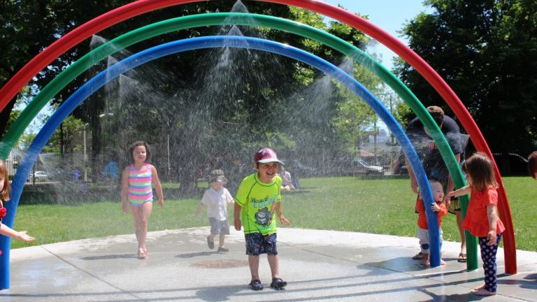 The Park District has opened some of its splash pads during the heatwave. (Chicago Park District)