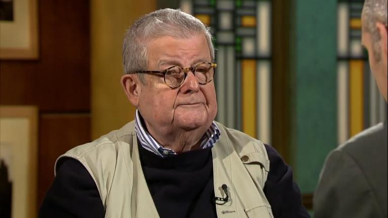 "Stanley Tigerman appears on ""Chicago Tonight"" on Oct. 24, 2013."
