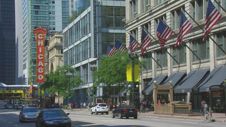 State Street in Chicago (WTTW News)