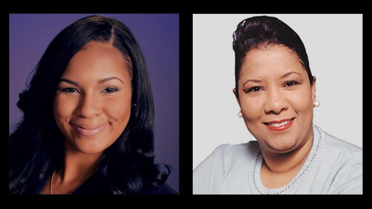 Aldermanic candidates for the 16th Ward: Stephanie Coleman, left, and incumbent Ald. Toni Foulkes.