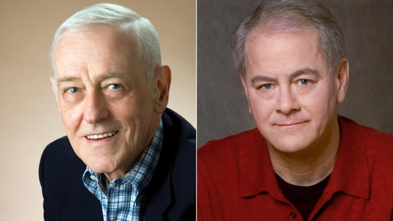 Actors John Mahoney, left, and Francis Guinan. (Courtesy of Steppenwolf Theatre)