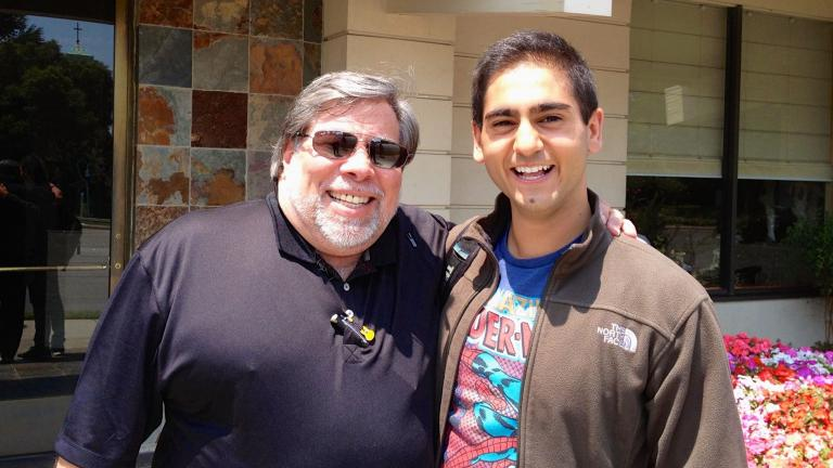 Apple co-founder Steve Wozniak, left, and author Alex Banayan. (Courtesy Alex Banayan)