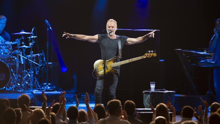 "Sting performs at the Ravinia Festival Pavilion as part of his ""My Songs Tour."" (Ravinia Festival / Patrick Gipson)"