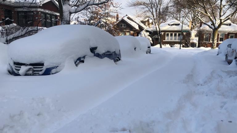 Another major snowfall blanketed Chicago Feb. 15, 2021. (Patty Wetli / WTTW News)