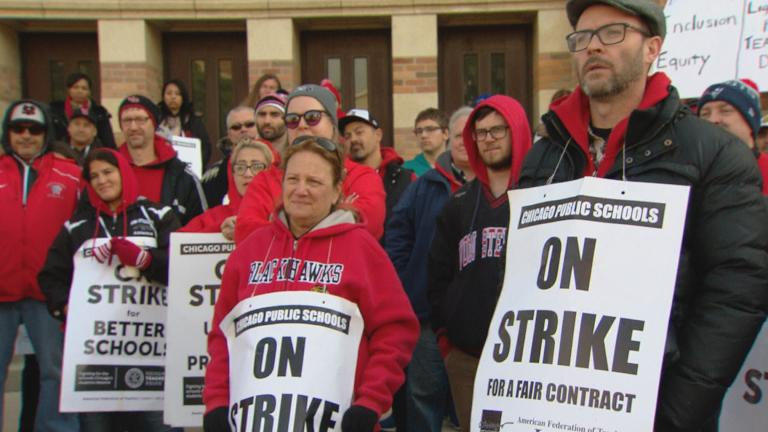 Chicago Public Schools teachers formed picket lines for the second day Friday as the city and Chicago Teachers Union continued contract negotiations.