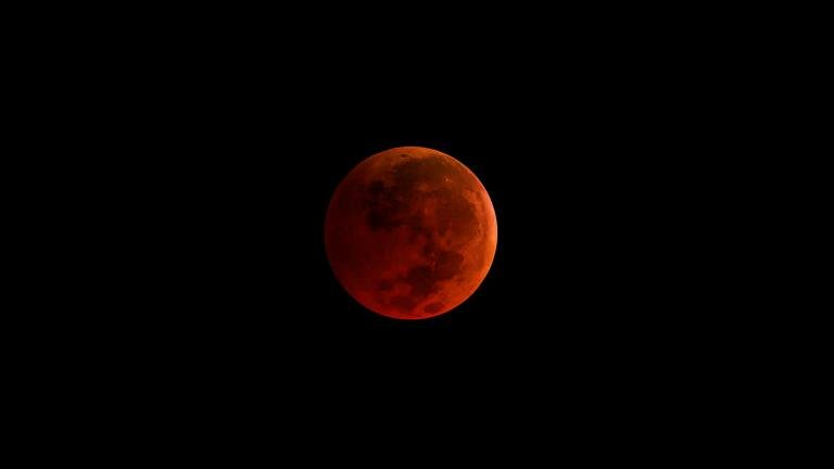A rare celestial event Jan. 31 will result in a super blue blood moon, when the moon will past through the Earth's shadow and take on a reddish tint. (NASA)