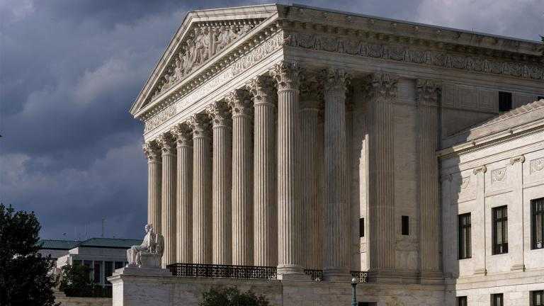 In this June 8, 2021 photo, the Supreme Court is seen in Washington. (AP Photo / J. Scott Applewhite)