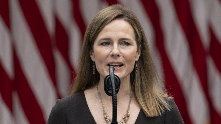 Judge Amy Coney Barrett speaks after President Donald Trump announced her as his nominee to the Supreme Court, in the Rose Garden at the White House, Saturday, Sept. 26, 2020, in Washington. (AP Photo / Alex Brandon)