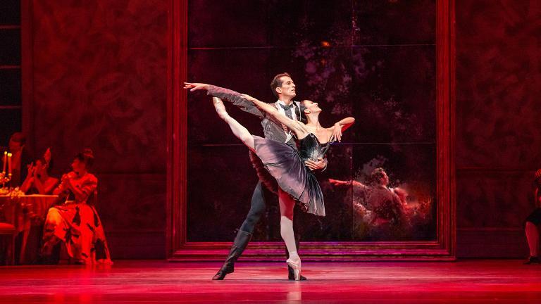 "Joffrey Ballet dancers Victoria Jaiani and Dylan Gutierrez in ""Swan Lake."" (Photo by Cheryl Mann)"
