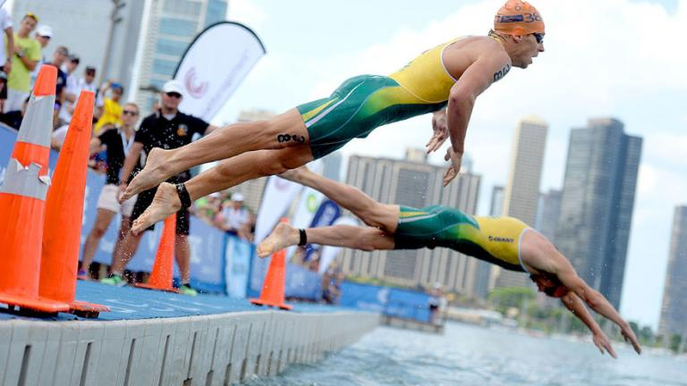 2014 ITU World Triathlon Chicago (Delly Carr / ITU Media)