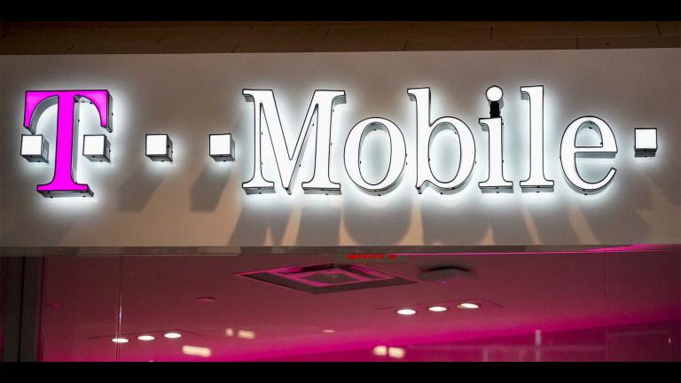 This Feb. 24, 2021 photo shows a T-Mobile store at a shopping mall in Pittsburgh. (AP Photo / Keith Srakocic)