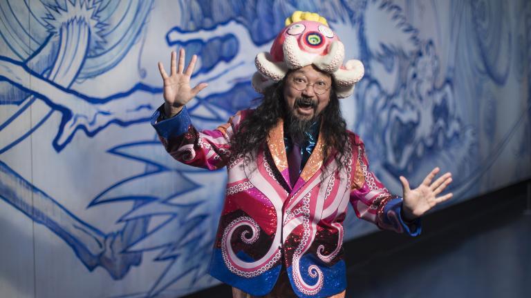 Takashi Murakami (Maria Ponce Berre, © MCA Chicago)