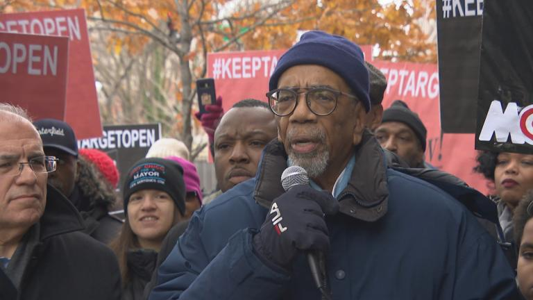 U.S. Rep. Bobby Rush on Monday, Nov. 12, 2018 speaks against two Target stores closing on Chicago's South Side.