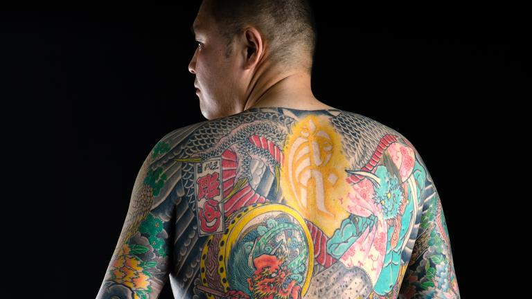 Japanese irezumi by Horiyoshi (© Martin Hladik / Courtesy of The Field Museum)