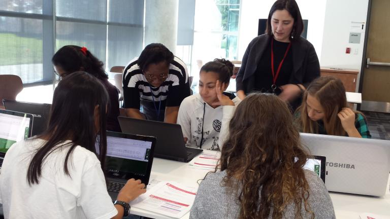 "TechGirlz is ""dedicated to reducing the gender gap in technology occupations,"" according to its website. (Courtesy of Tracey Welson-Rossman)"