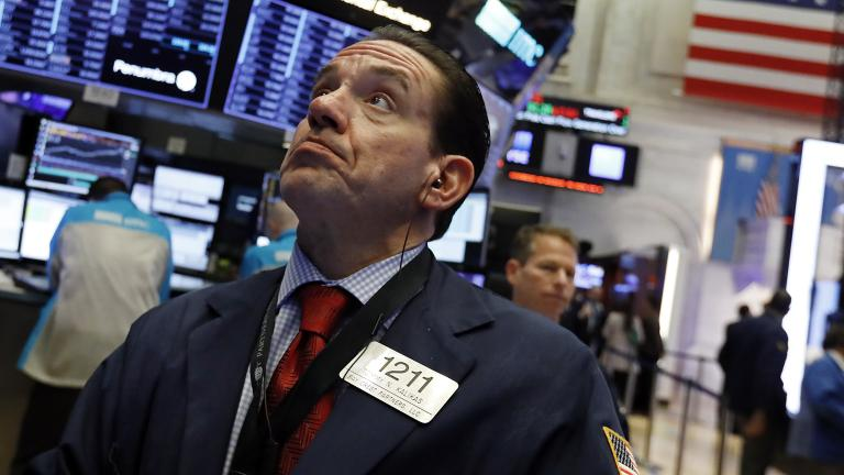 Trader Tommy Kalikas works on the floor of the New York Stock Exchange on Thursday, Jan. 3, 2019. Apple's shock warning that its Chinese sales are weakening ratcheted up concerns about the world's second-largest economy and weighed heavily on global stock markets as well as the dollar on Thursday. (AP Photo / Richard Drew)