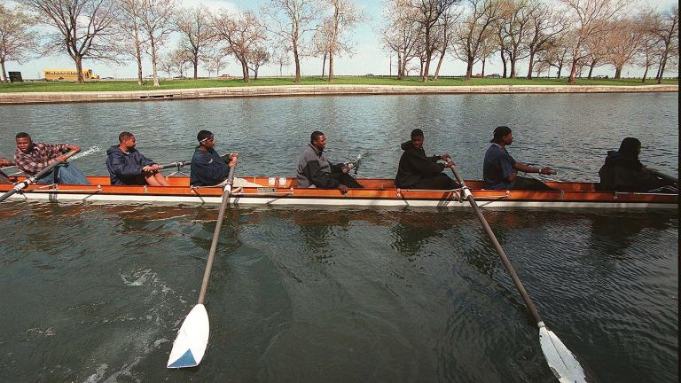 The Manley Crew on the water. © 1998 Heather Stone. Courtesy of Tribune Content Agency