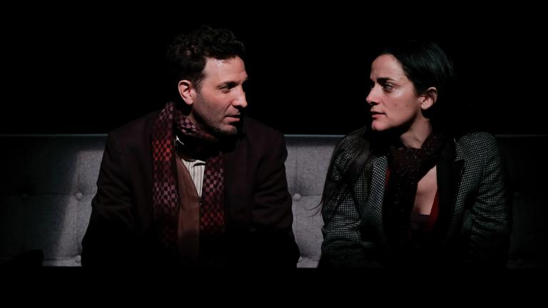 "Esteban Schemberg and Cruz Gonzalez Cadel in in Teatro Vista's world premiere of Stephanie Allen Walker's ""The Abuelas."" (Photo credit: Joel Maisonet)"