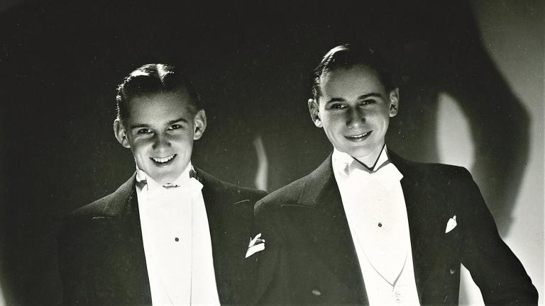 Dancers Bob Fosse, left, and Charlie Grass perform as The Riff Brothers. (Courtesy of Charlie Grass)