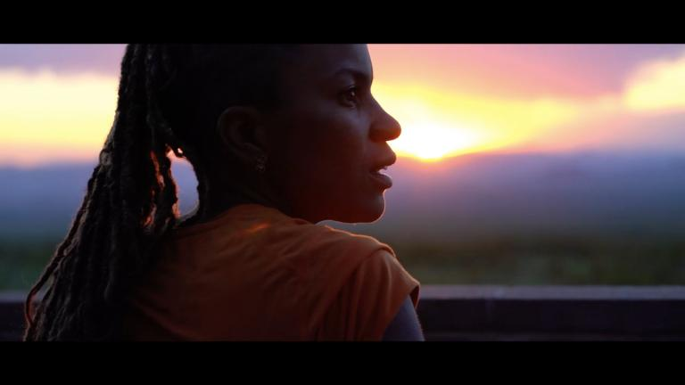 "Faith E. Briggs, in a scene from ""This Land,"" part of a virtual screening event. (YouTube)"