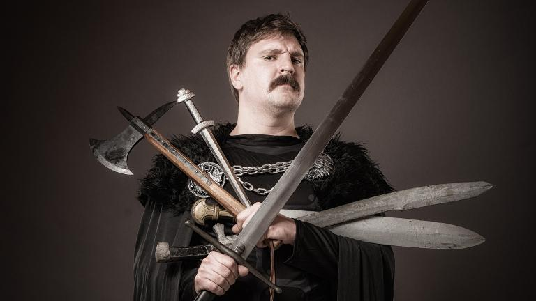 """Ali Brice appears as the title character in """"Graeme of Thrones"""" at Broadway Playhouse at Water Tower Place. (Paul Wilkinson / Broadway in Chicago)"""