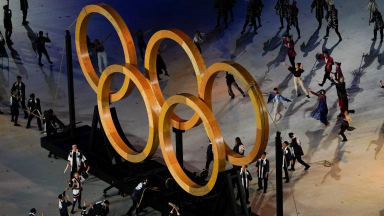 Actors perform during the opening ceremony at the Olympic Stadium at the 2020 Summer Olympics, Friday, July 23, 2021, in Tokyo. (AP Photo / Morry Gash)