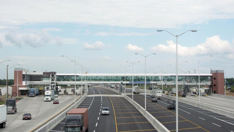 Open Road Tolling: South Beloit Toll Plaza, Image Credit: Illinois Tollway