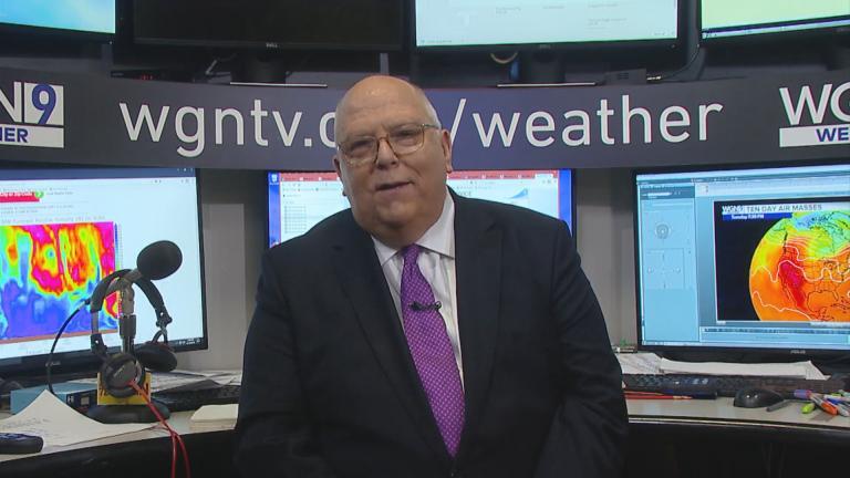 "Meteorologist Tom Skilling appears on ""Chicago Tonight"" on Aug. 14, 2018."