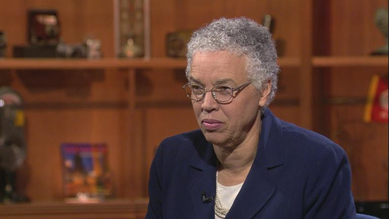 "Cook County Board President Toni Preckwinkle appears on ""Chicago Tonight"" on Thursday, Oct. 10, 2019."
