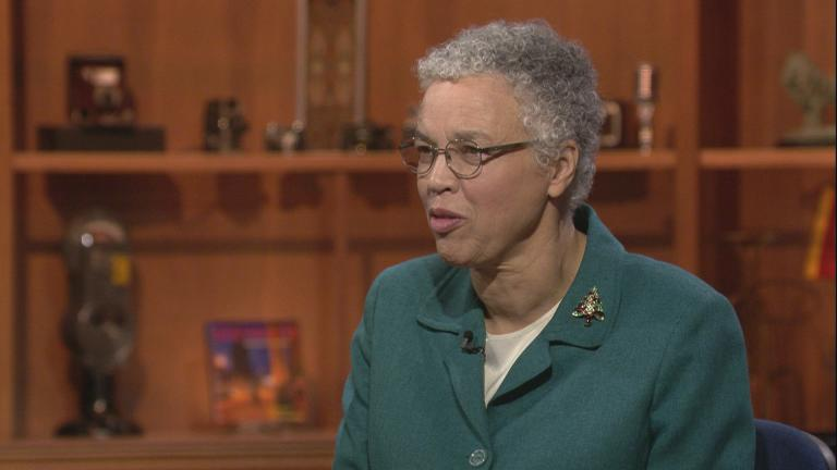 "Cook County Board President Toni Preckwinkle appears on ""Chicago Tonight"" on Monday, Dec. 23, 2019."