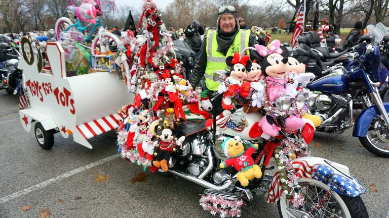 Tens of thousands of riders participate in the annual Toys for Tots Motorcycle Parade. (Chicagoland Toys for Tots Motorcycle Parade / Facebook)