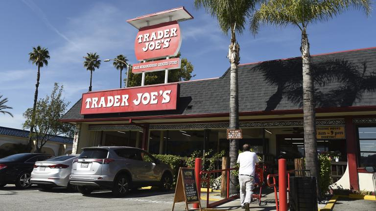 A Feb. 26, 2020 file photo shows the original Trader Joe's grocery store in Pasadena, Calif. (AP Photo/Chris Pizzello, File)