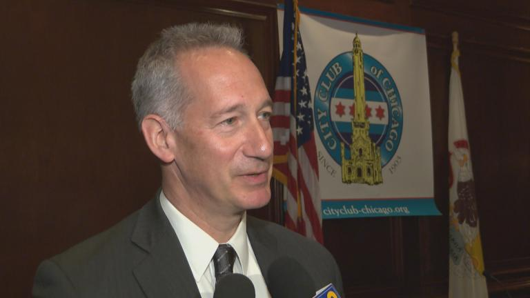 Chicago Inspector General Joe Ferguson takes questions from the media on July 18, 2018. (Chicago Tonight)