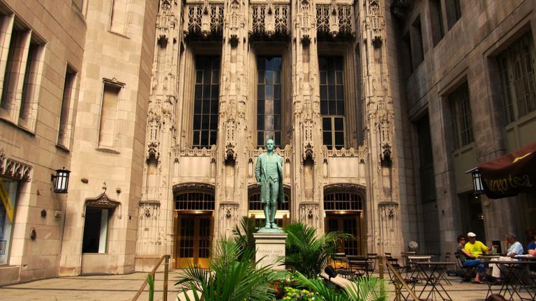 Tribune Tower on Chicago's Michigan Avenue. (Ken Lund / Flickr)