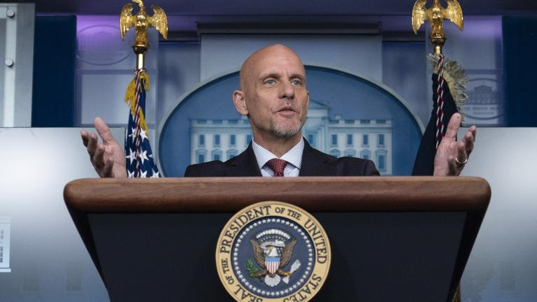 In this Aug. 23, 2020, file photo Food and Drug Administration commissioner Dr. Stephen Hahn speaks during a media briefing in the James Brady Briefing Room of the White House in Washington. (AP Photo / Alex Brandon, File)