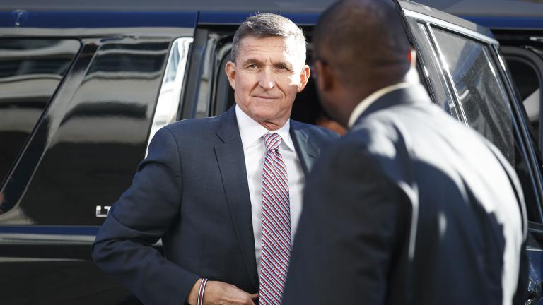 In this file photo, President Donald Trump's former National Security Advisor Michael Flynn arrives at federal court in Washington, Tuesday, Dec. 18, 2018. (AP Photo / Carolyn Kaster)