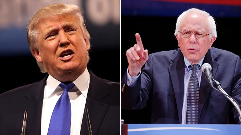 Donald Trump (Gage Skidmore / Flickr) and Bernie Sanders (Michael Vadon / Flickr)