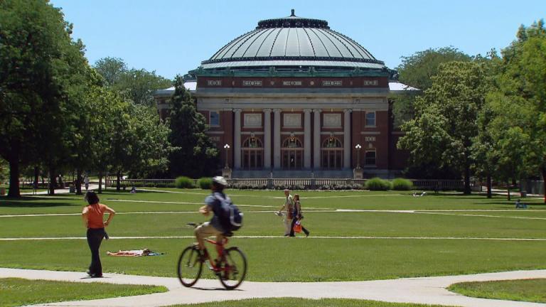 The University of Illinois at Champaign-Urbana. (WTTW News)