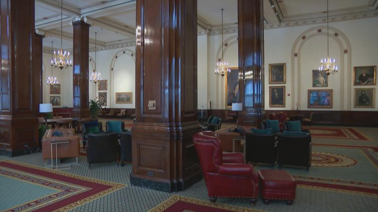 Inside the Union League Club of Chicago. (WTTW News)