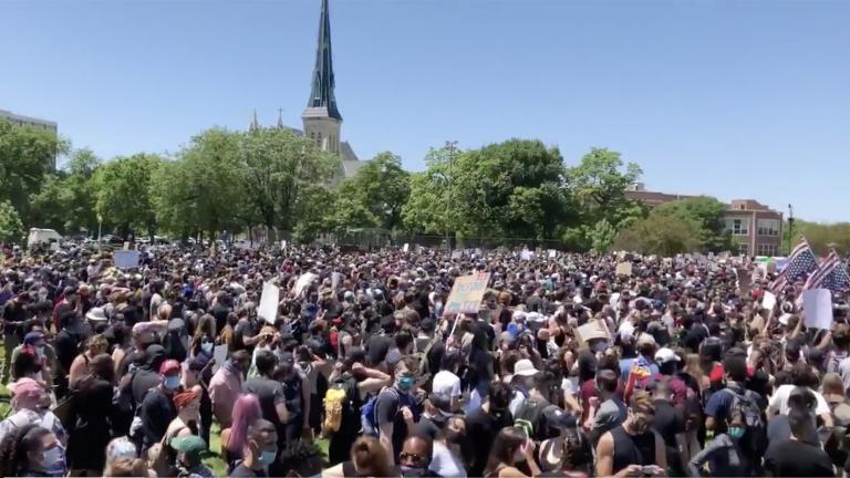 Demonstrators in Chicago's Union Park on Saturday, June 6, 2020. (@EvanRGarcia / Twitter)