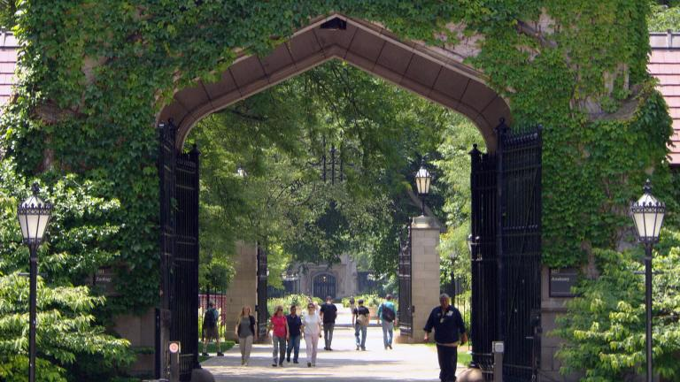 The University of Chicago reported a COVID-19 outbreak at the beginning of April. (WTTW News)