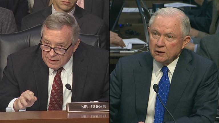 U.S. Sen. Dick Durbin, left, and U.S. Attorney General Jeff Sessions