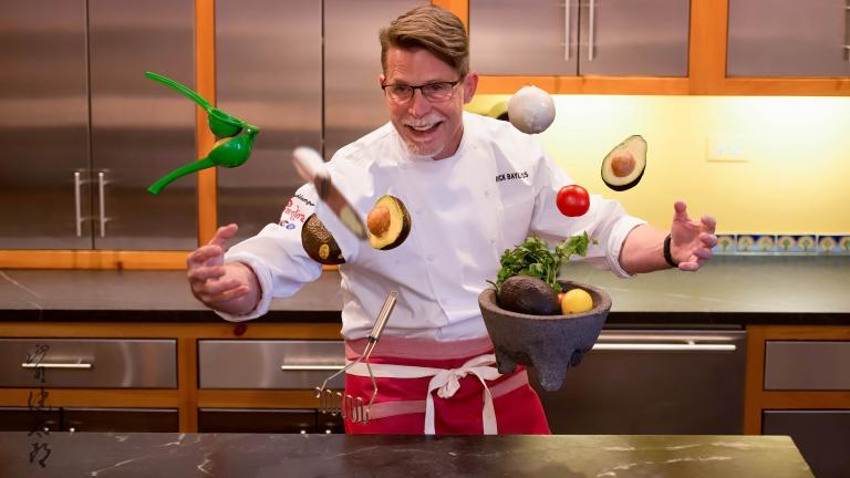 Chef Rick Bayless' photo for The Uplifted project. (Kentaro Yamada)