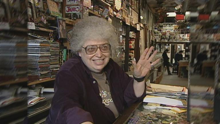 Val Camilletti at her record store, Val's halla, in 2005. (WTTW News)