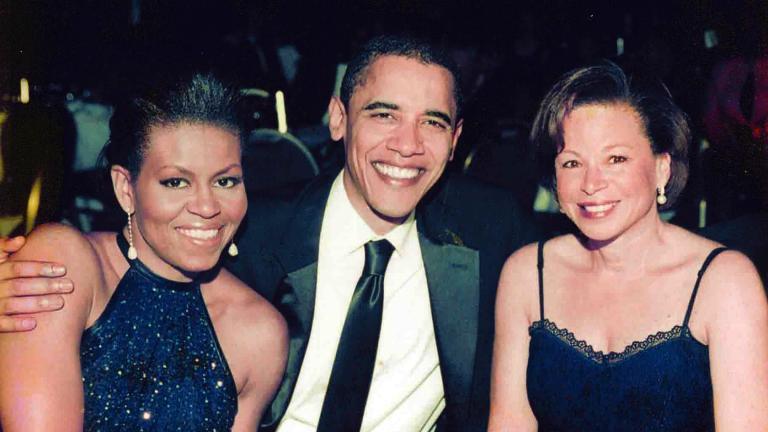 Michelle and Barack Obama with Valerie Jarrett at the Chicago Urban League Annual Golden Fellowship Dinner, November 2005. (Courtesy Valerie Jarrett)