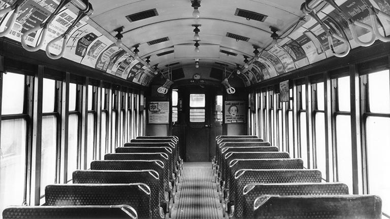 Interior view of a 4000 series car from the CTA's Heritage fleet. (Courtesy CTA)